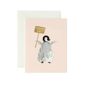 Welcome Penguin Greeting Card by Rifle Paper | Restoration Yard