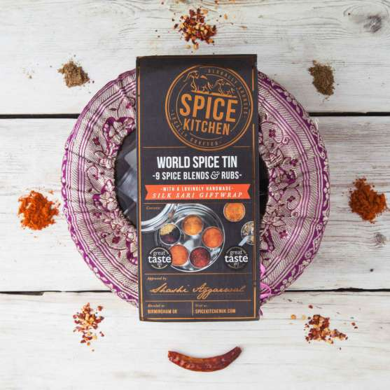 Spice Kitchen World Blends BBQ Rubs Tin in a Sari