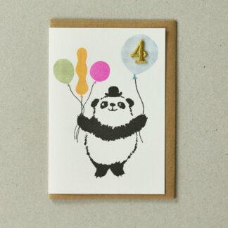 Panda Age 4 Greeting Card by Petra Boase | Restoration Yard