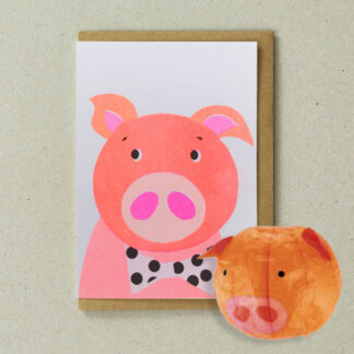 Japanese Paper Balloon Cards Pig by Petra Boase | Restoration Yard