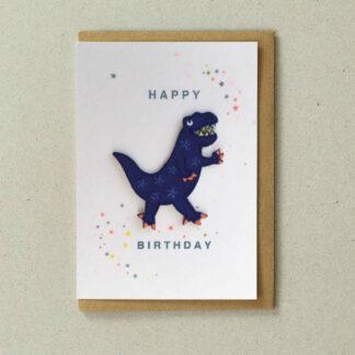Patch Cards Blue Dinosaur by Petra Boase | Restoration Yard
