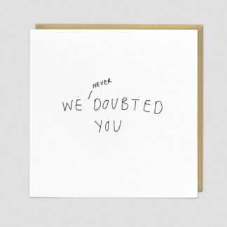 Doubted Greeting Card by Redback | Restoration Yard