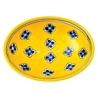 Soap Dish Yellow Blue Flowers by Tranquillo | Restoration Yard
