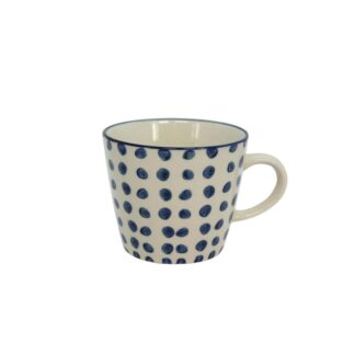 Ceramic Mug Blue Dots by Gisela Graham | Restoration Yard