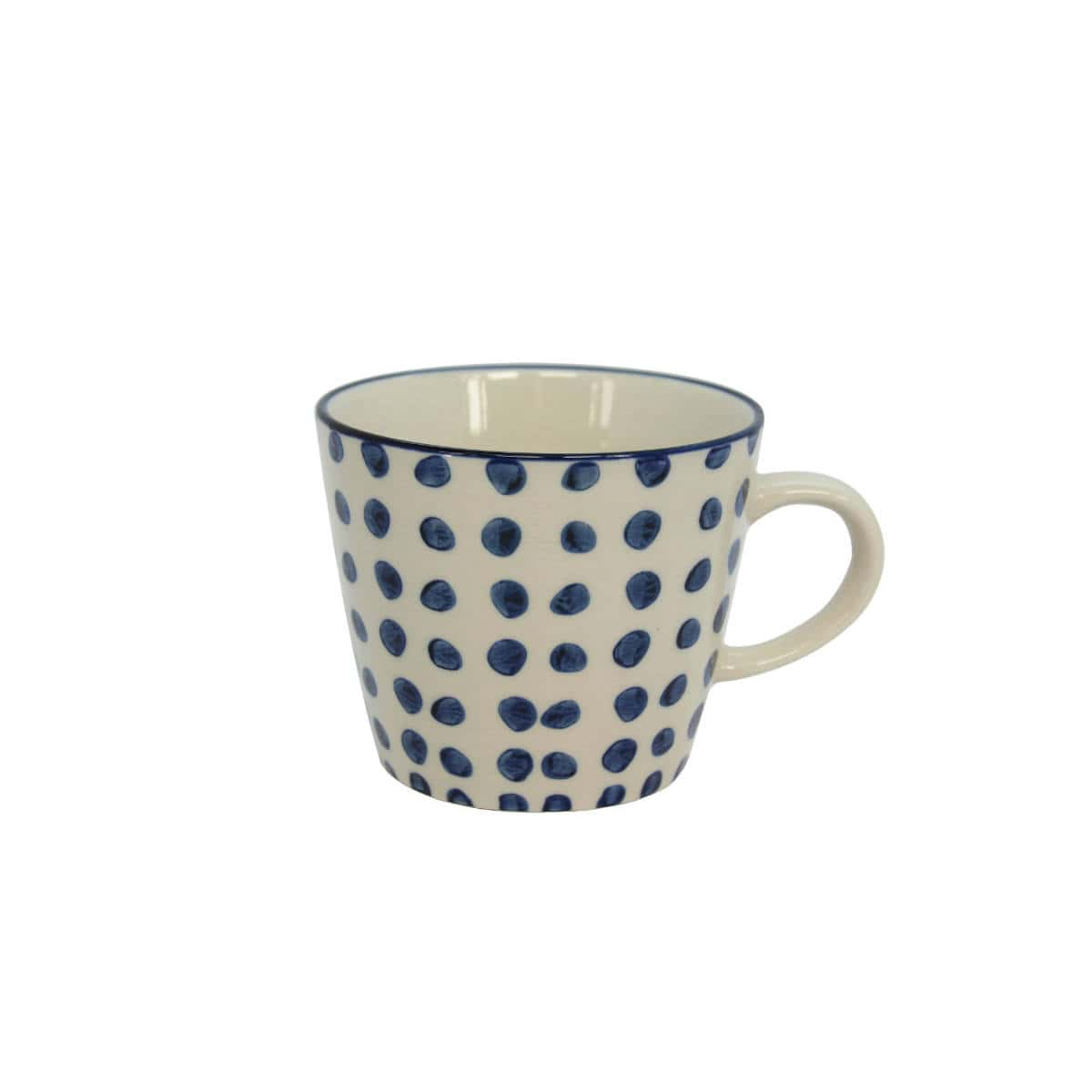 Ceramic Mug Blue Dots By Gisela Graham Restoration Yard