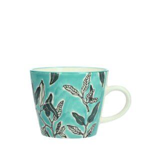 Ceramic Mug Water Colour Leaves by Gisela Graham | Restoration Yard