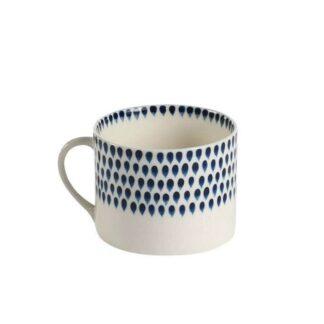 Indigo Drop mug by Nkuku | Restoration Yard
