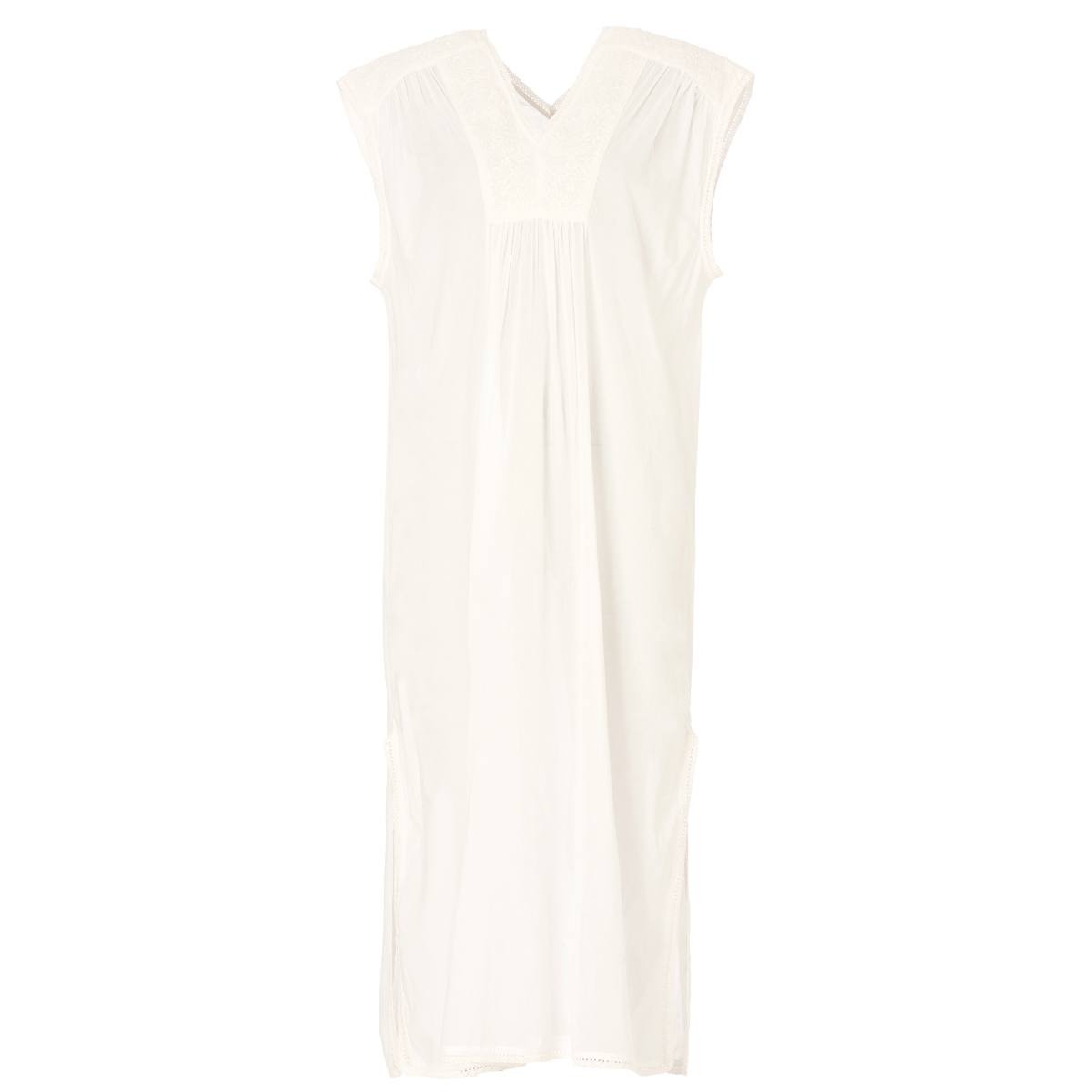 Arya Embroidered Long White Nightdress by M.A.B.E | Restoration Yard