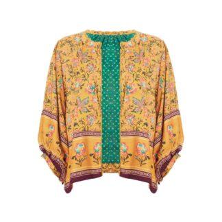Dinah Print Jacket Mustard by M.A.B.E | Restoration Yard