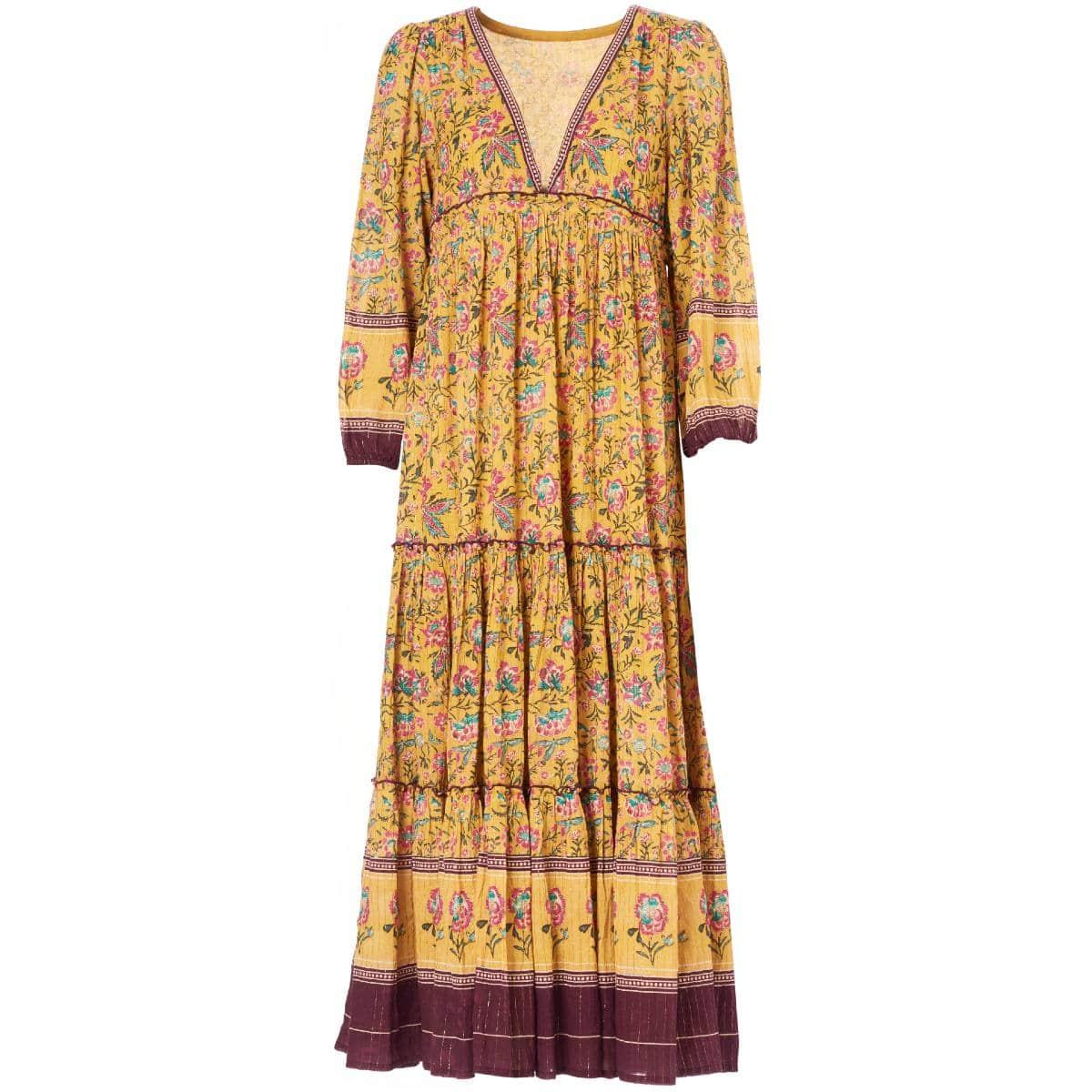 Dinah Mustard Maxi Dress by M.A.B.E   Restoration Yard