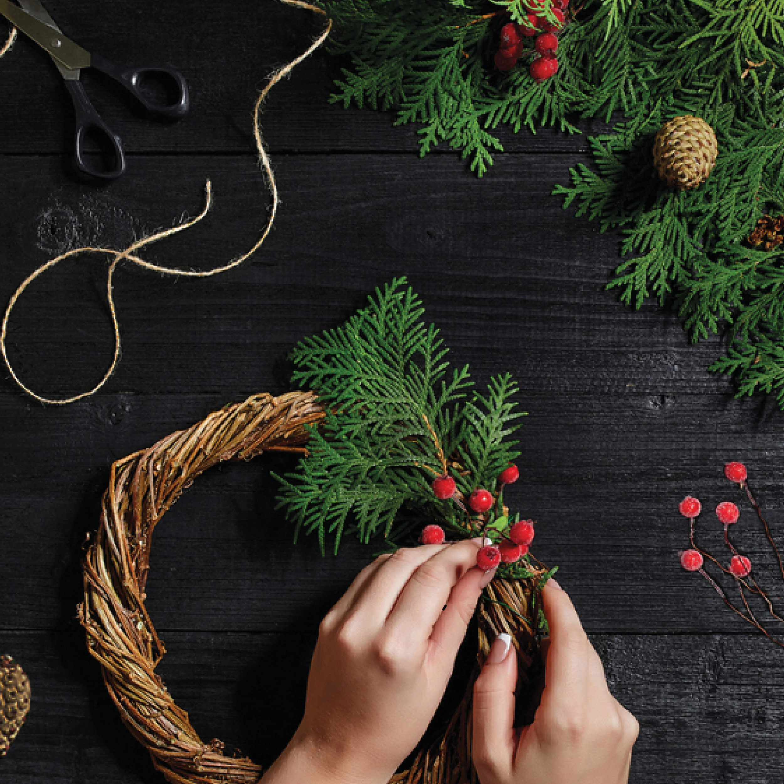 Christmas Wreath Making at Restoration Yard