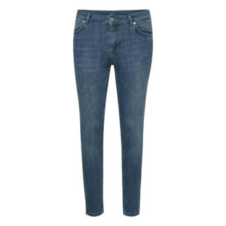 Celina Medium Blue Vintage Zip Wash Jeans by Denim Hunter | Restoration Yard