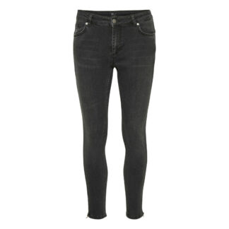 Celina Grey Vintage Zip Wash Jeans by Denim Hunter | Restoration Yard