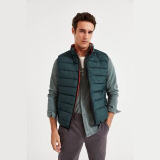 Ecoalf St Moritz Vest Korean Green | Restoration Yard
