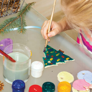 Kids Christmas Workshop at Restoration Yard - Paint Your Own Christmas Tree Decoration!