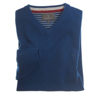 Vedoneire Wool Mix V-Neck Jumper in Diesel | Restoration Yard