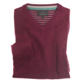 Vedoneire Wool Mix V-Neck Jumper in Velvet Cake | Restoration Yard