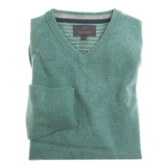 Vedoneire Wool Mix V-Neck Jumper in Wasabi | Restoration Yard