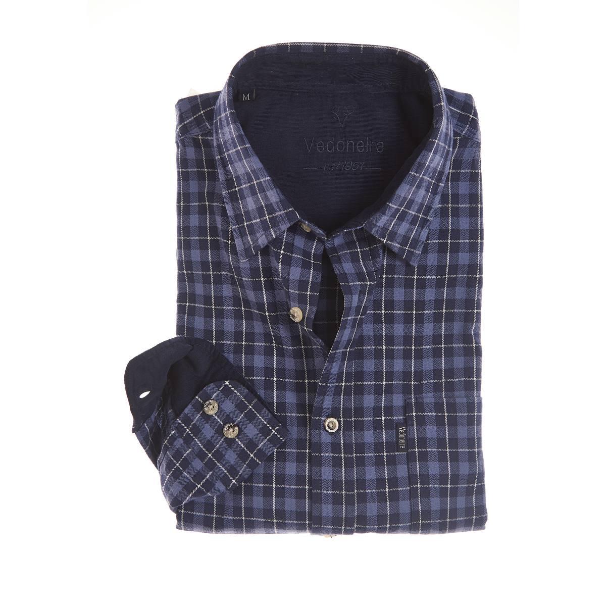 Vedoneire Shirt Brushed Cotton Plaid Pilbara Blue | Restoration Yard
