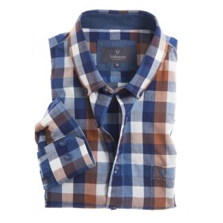 Vedoneire Shirt Soft Wash Elgin Blue Check | Restoration Yard