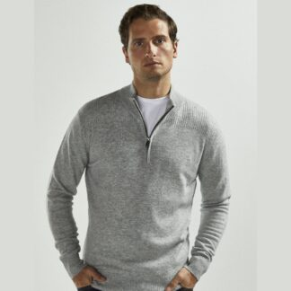 Wool Half Zip in Calm Grey by Vedoneire | Restoration Yard