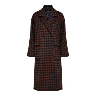 Element Wool Checked Coat Maritime Blue | Restoration Yard