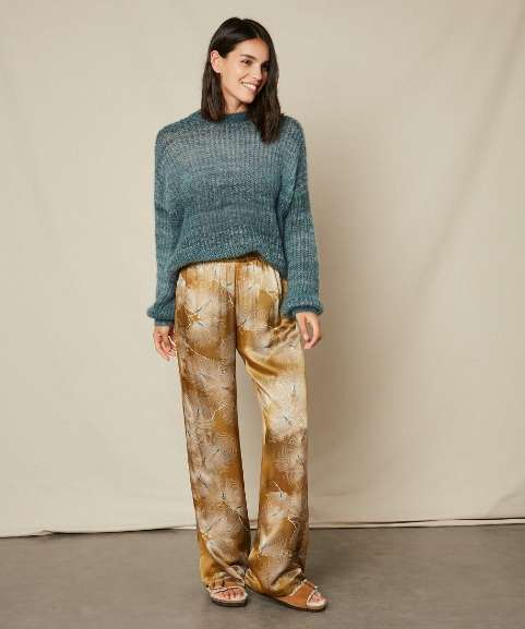 The new season fashion icon is pyjama pants like these silky Japanese Print Pants from Hartford at Restoration Yard