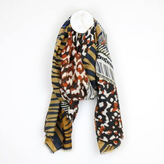 Animal Print Mustard and Rust Scarf by POM925 | Restoration Yard