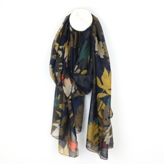 Overlap Leaf Scarf in Mustard Teal by Pom925 | Restoration Yard