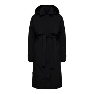 Helen Trench Coat Black by Selected Femme | Restoration Yard