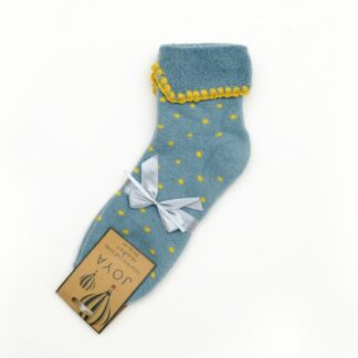 Joya Blue and Yellow Dots Cuff Socks | Restoration Yard