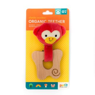 Organic Cheeky Monkey Teether from Petit Collage