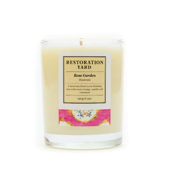 Restoration Yard New Beauty & Wellness Collection - Rose Garden Candle