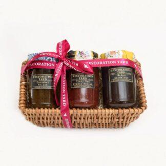Trio Hampers Onion Marmalade Cucumber Relish Fiery Red Pepper Relish by Restoration Yard | Restoration Yard