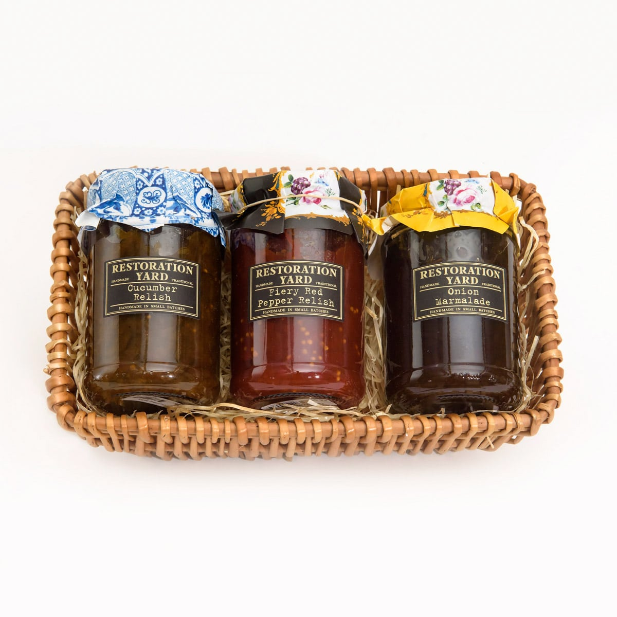 Restoration Yard Trio Onion Marmalade Cucumber Relish Fiery Red Pepper Relish | Restoration Yard