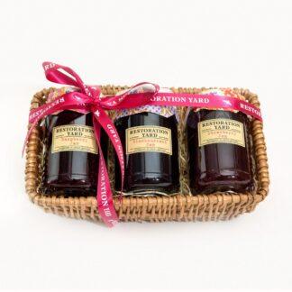Trio Hampers Raspberry Jam Blackcurrant Jam Strawberry Jam by Restoration Yard | Restoration Yard