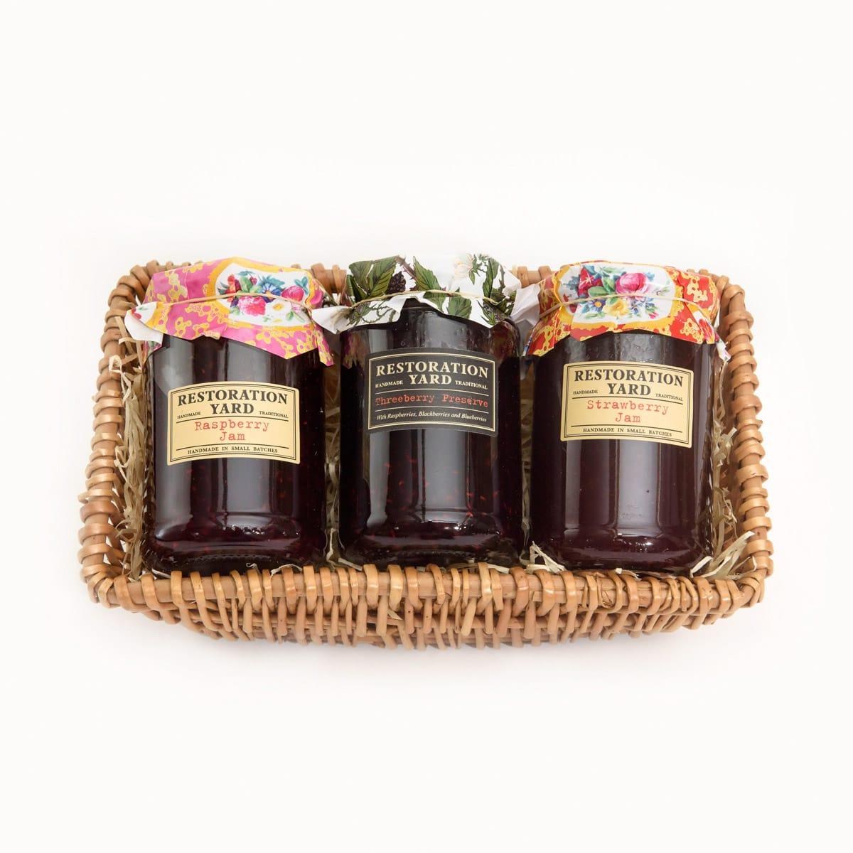 Trio Hampers Raspberry Jam Threeberry Jam Strawberry Jam by Restoration Yard | Restoration Yard