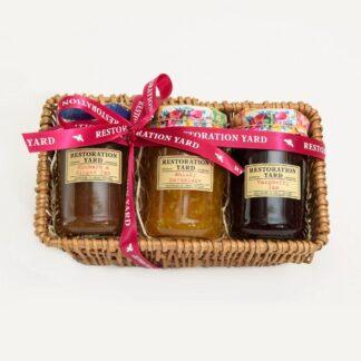 Trio Hampers Rhubarb & Ginger Whiskey Marmalade Raspberry Jam by Restoration Yard | Restoration Yard