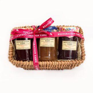 Trio Hampers Strawberry Jam Rhubarb & Ginger Jam Raspberry Jam by Restoration Yard | Restoration Yard