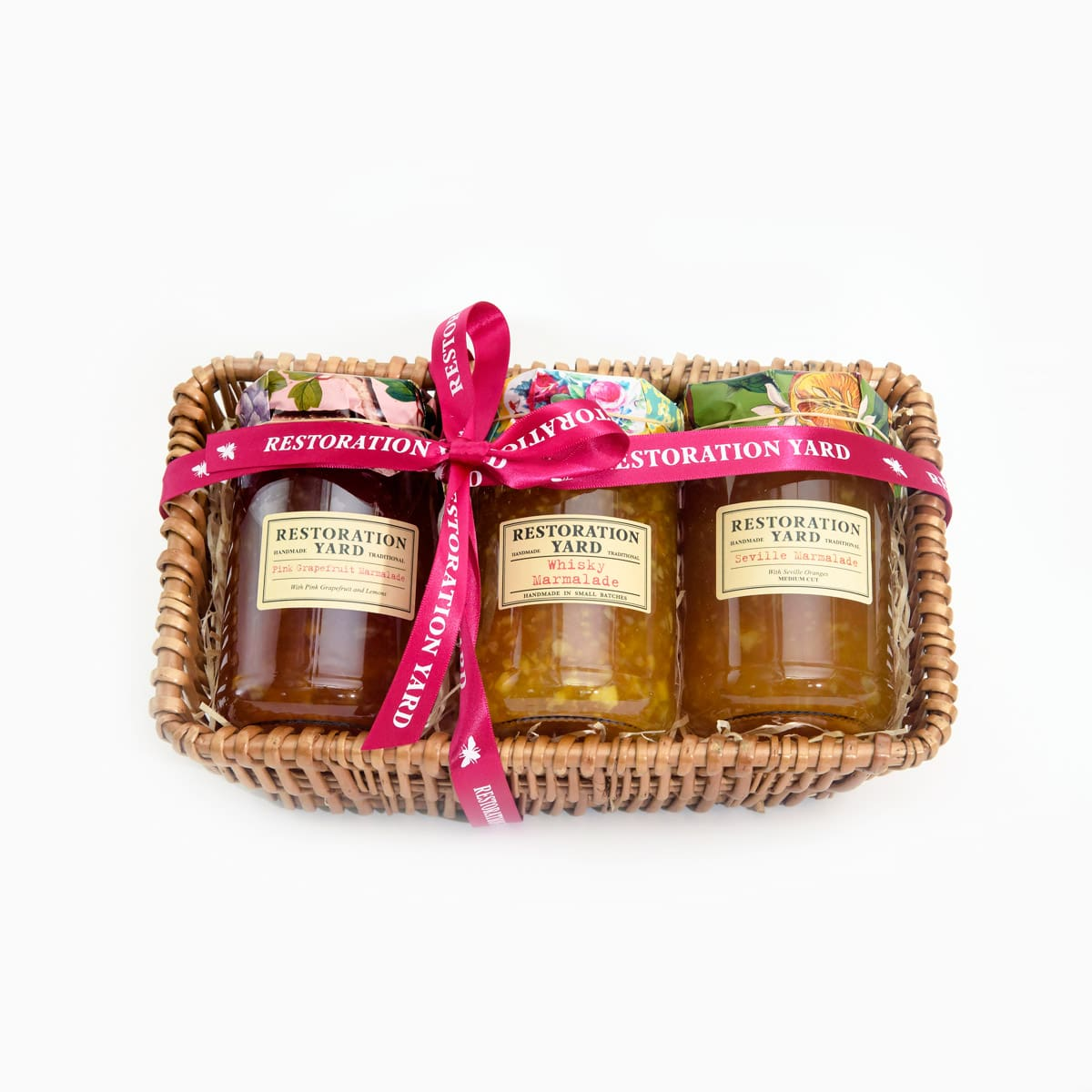 Trio Hampers Whisky Marmalade Pink Grapefruit Marmalade Seville Marmalade by Restoration Yard | Restoration Yard