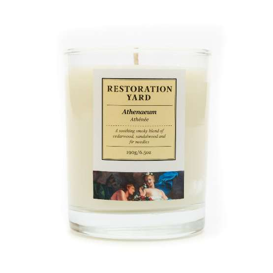 Restoration Yard new beauty and wellness collection - Athenaeum Candle