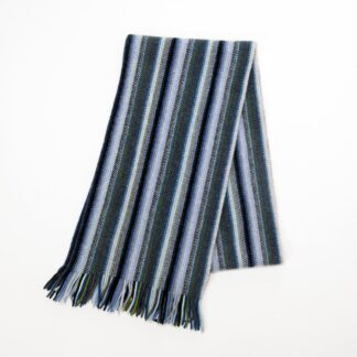 S Ply Lambswool Multi Stripe Scarf Midnight Angels | Restoration Yard