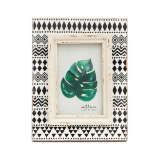 Black and White Patterned Picture Frame by Sass & Belle | Restoration Yard