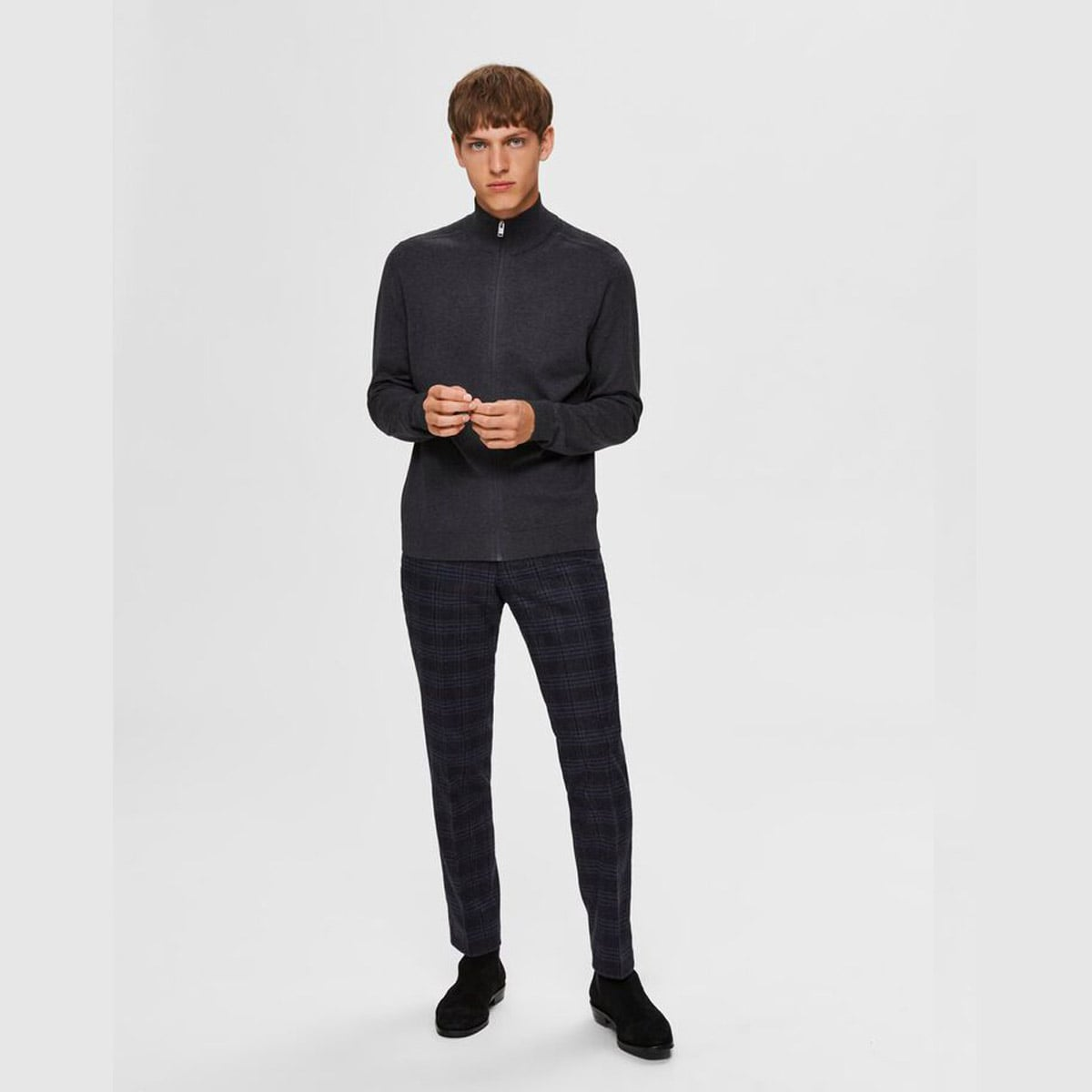 Cardigan Antracit by Selected Homme | Restoration Yard