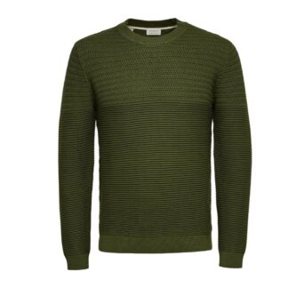 Conrad Crew Jumper Green Twist by Selected Homme | Restoration Yard