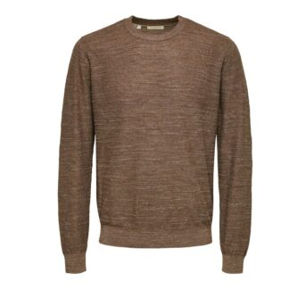 Crew Neck Teak by Selected Homme | Restoration Yard