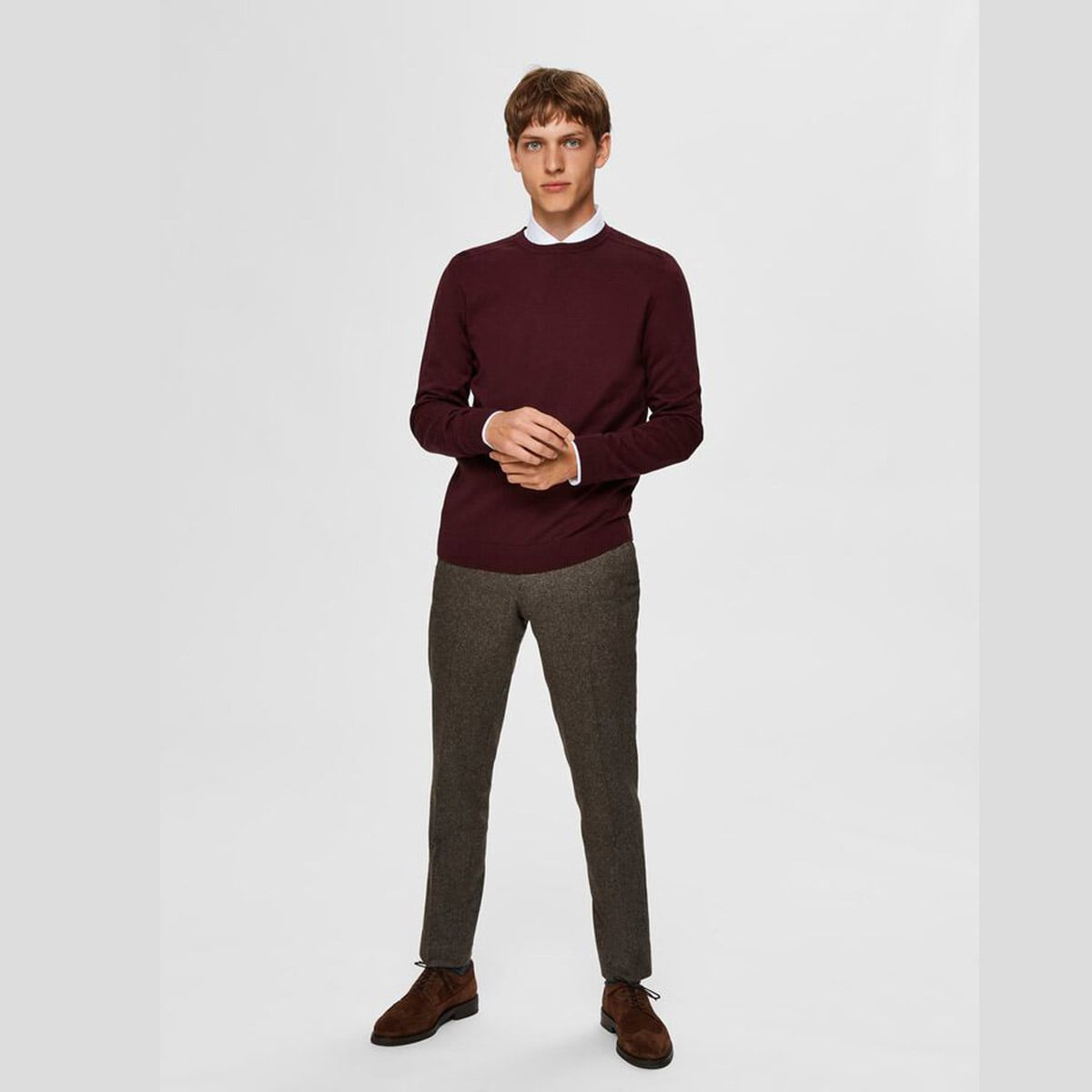 Crew Neck Winetasting by Selected Homme | Restoration Yard
