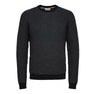 Haiden Crew Neck Medium Grey Melange Jumper | Restoration Yard