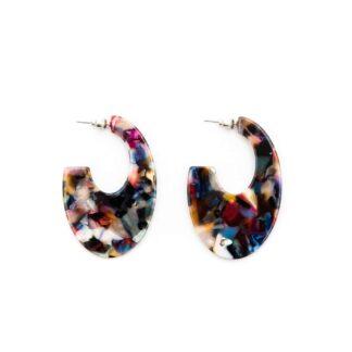 Abstract Resin Earrings in Multicolour by Big Metal | Restoration Yard