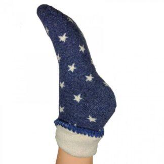 Joya Blue with White Stars Cuff Socks   Restoration Yard